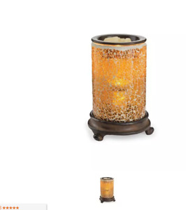 Candle Warmers Crackled Amber Illumination Fragrance Warmer Ebay