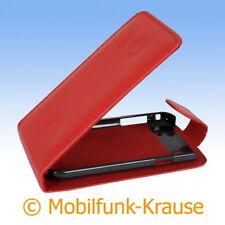 Flip Case Etui Handytasche Tasche Hülle f. Samsung GT-I9000 / I9000 (Rot)