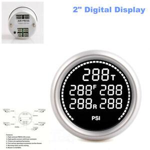 """2"""" Digital Display Car Measure Batterie Temp Pneumatic Shock Absorber Barometer"""