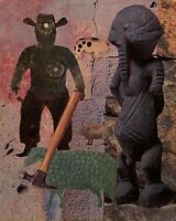 PETERS 1927-2019 NEW YORK CITY SURREAL OUTSIDER FIGURE STUDY COLLAGE 1990