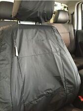 GENUINE VW AMAROK DARK LABEL EDITION FRONT BLACK WATERPROOF SEAT COVERS SET