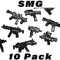 LEGO Guns SMG Sub-machine Gun Lot Randomized Custom Weapon Military Army Bulk