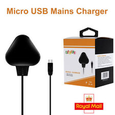 Raspberry Pi Wall Plug Micro Usb 3 Pin Uk Mains Charger Adapter Power Supply