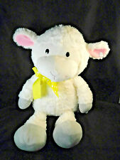 "Animal Adventure Large 17"" White Lamb Yellow Polka Dot Bow Plush Toy"