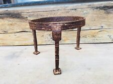 Ancient Old Hand Forged Iron Rare Tribal Art Pot Stand