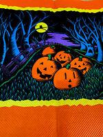 "1 Vintage Halloween Pumpkins Owl Moon Crepe Paper 12x10"" Scrapbooking Crafting"
