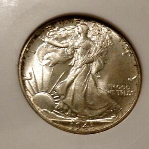1943-Certified ANACS-MS-65-Uncirculated Walking Liberty Silver Half Dollar