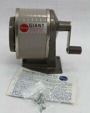 Vintage APSCO Giant 6 Hole Pencil Sharpener Original Box Instructions No 0806