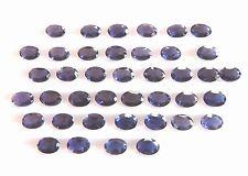 Natural Iolite Gemstone Oval 7X5 MM Blue Iolite Loose Iolite Faceted Lot H2104