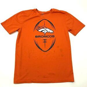 NFL Denver Broncos Dry Fit Shirt Youth Size Extra Large Orange Tee Football Boys