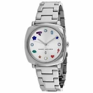 Marc by Marc Jacobs Mandy Crydtal Metal Band Silver Women's Watch MJ3548