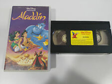 ALADDIN - VHS CINTA TAPE LOS CLASICOS DE WALT DISNEY CASTELLANO COLECCIONISTA !