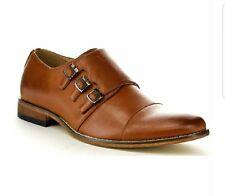 Men's Chic Cap Toe Monk Strap Dress Shoes Run Half Size Big Size 10