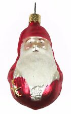 Glass Red Gourd Shaped Santa Christmas Ornament Holiday Decoration