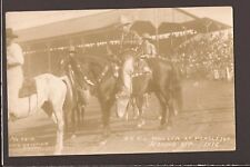 1916 Real Photo Dr T L Waller Pendleton Round-up OR Oregon RPPC W S Bowman