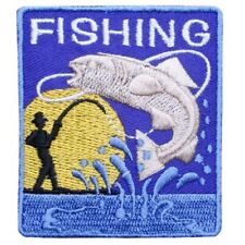 "EXCELLENT ""FISHING""  IRON ON  PATCH BUY 2 WE SEND THREE"