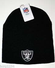 NFL TEAM APPAREL CUFFLESS KNIT WINTER HAT/BEANIE/TOQUE - OAKLAND RAIDERS