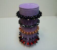 Bracelet jewellery display roll for elasticated bracelets (lilac)