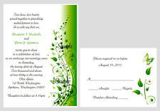 100 Personalized Custom Spring Floral Butterfly Bridal Wedding Invitations Set