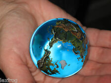 "LARGE SIZE - 2"" Crystal Glass Earth Globe Marble Sphere Orrery"