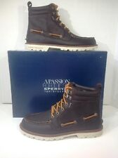 Sperry STS11498 Men's Sz 8.5 Brown Leather A/O Lug Boots Waterproof  ZI-1031
