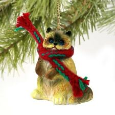 RAGDOLL CAT Ornament HANDPAINTED Resin HIMALAYAN Figurine CHRISTMAS kitty kitten