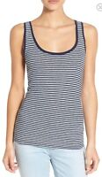 NWT Womens AG Adriano Goldschmied Sleeveless Striped Knit Tank Top Sz L Large