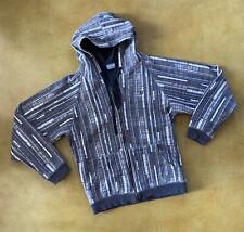 Mens Dakine Black Gray Snowboard Hoodie Zip Up Jacket Size Medium EUC