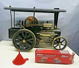 Wilesco Traktor, Dampfwalze, Messing/Schwarz Metall, Old Smoky, Dampfmaschine.