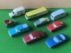 Vintage Matchbox Series Diecast Model Cars & Trucks Job Lot x 9 1950's - 1960's