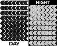 56 Reflektierende Reflektoren Aufkleber Reflektorband Schwarz Reflexaufkleber