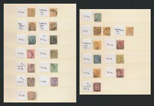 MAURITIUS STAMPS 1879-1883 QV 2 PAGES INC SG #98 & 16c/17c SG #113, BOTH VFU