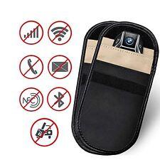 2pc Car Key Signal Blocker Case Faraday Cage Fob Pouch Keyless RFID Blocking Bag