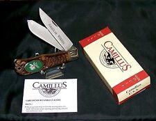 "Camillus USA Knife American Wildlife #10F ""The Moose"" Pilgrim Pewter W/Packaging"