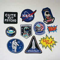 Embroidery NASA UFO Space Sew Iron On Patch Badge Bag Fancy Dress Applique DIY