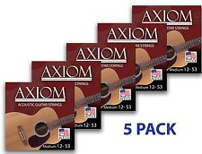 Axiom Acoustic Guitar Strings 5 PACK 12-53 Made in USA