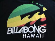 VINTAGE BILLABONG HAWAII BLACK T SHIRT MEDIUM
