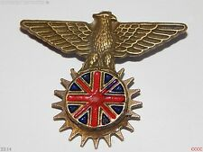 steampunk brooch badge Union flag eagle Great Britain Cpt QC Cumberpatch logo
