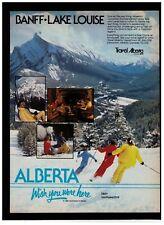 "1983 Banff Lake Louise ""Wish You Were Here"" Vintage Travel Print Ad"