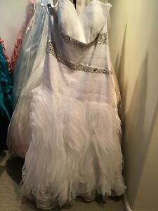 LaFEE prom pageant quinceanera lace up dress White Ball gown 18