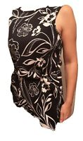 M&S Collection Size 14 navy Blue/white floral long top RRP £19.50 vest/mini dres