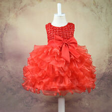 Baby Toddler Girl Dress Flower Princess Wedding Party Pageant Fancy TUTU Dress