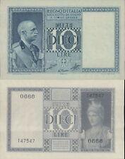 VITTORIO EMANUELE III 10 LIRE IMPERIALE DEC.1939 XVIII  F.D.S.RARO A.