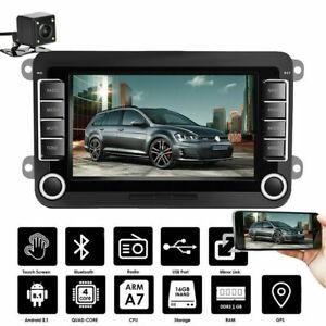 """7"""" 2 DIN Autoradio Android BT GPS Navi Für VW GOLF 5 V 6 Passat Touran + Kamera"""