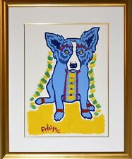 George Rodrigue Blue Dog Original In The Blink Of An Eye Signed Artwork Large