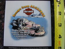 HARLEY DAVIDSON*DUDLEY HD*ESCAPE FROM ALCATRAZ*SF,CA,*4 BY 4 INCH*DEALER*DECAL