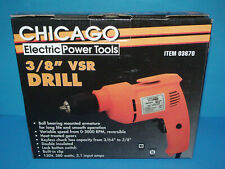 Chicago Electric 3/8-Inch VSR Drill 03670 New in Open Box