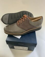 COLE HAAN Mens Size 8.5 LUNAR GRAND SADDLE  Pewter/Chestnut Lace Up OXFORD NEW
