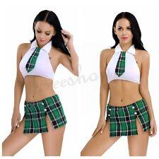 Sexy Women Naughty School Girl Dress Uniform Outfit Halloween Cosplay Skirt Suit