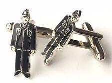 Oficial Policía Guardia Esmalte Escudos Gemelos (N176) Regalo en Caja
